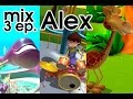 Alex cartoon, 11 min. educational videos: whale, giraffe and drumkit