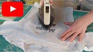 Как сделать надпись на футболке своими руками. How to make a t-shirt with his hands. мега макс
