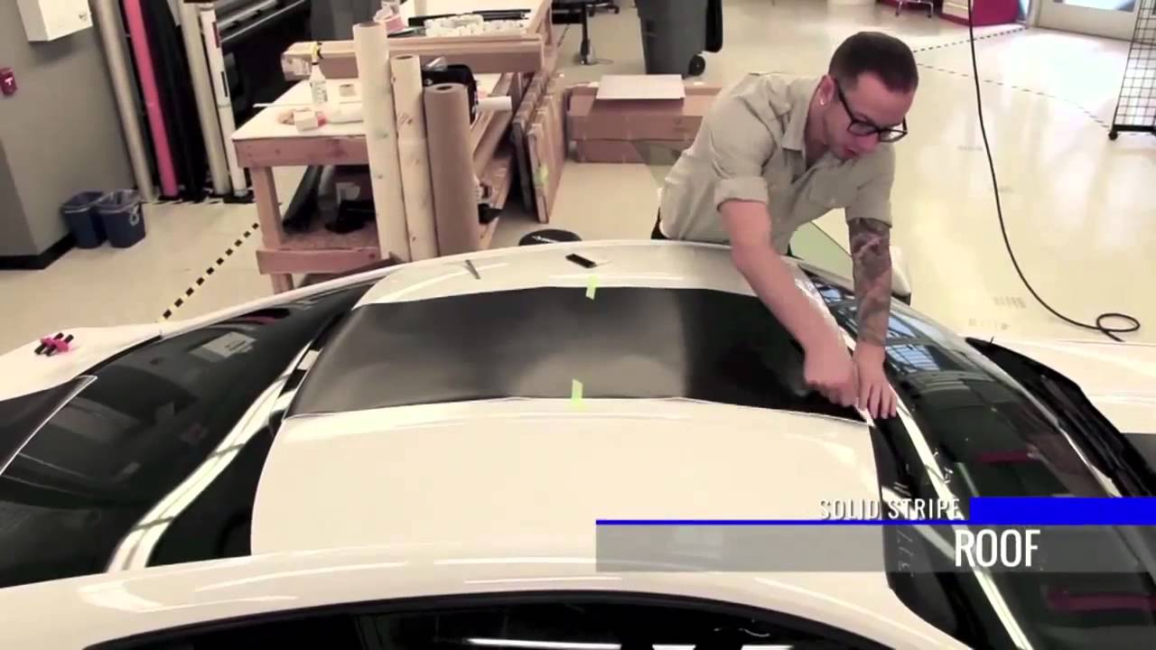 2015 Ford Mustang Solid Stripe Install Youtube