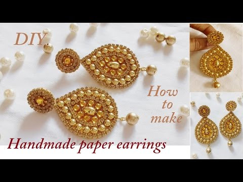 DIY | How to make Designer Earrings | How to make Paper Earrings | made out of paper