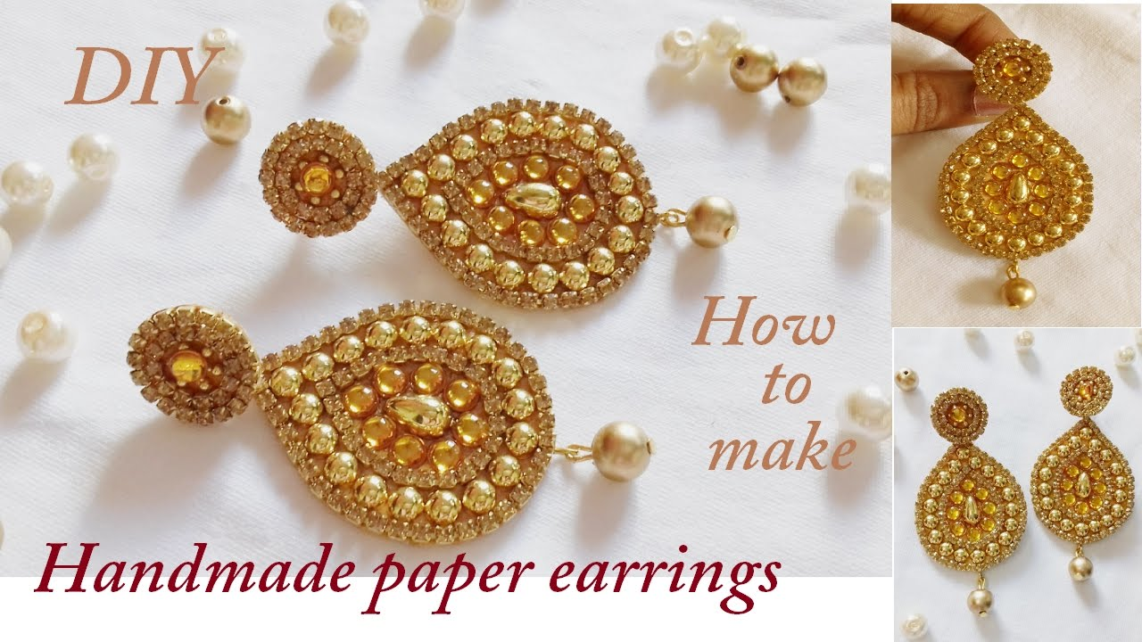 plated griiham products gram one earrings jhumkas gold designer