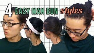 TUTORIAL: 4 Easy Mąn Bun Styles