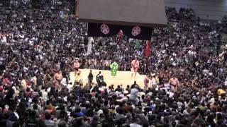日馬富士 vs 栃ノ心の取組。2015春場所8日目。現地オリジナル撮影。 Gra...