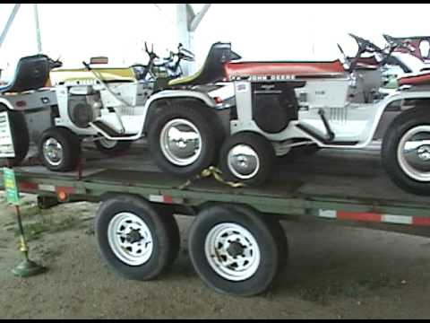 Superb TRAILER FULL OF JOHN DEERE PATIO SERIES LAWN TRACTORS