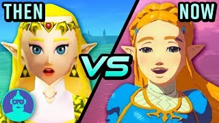 The Legend Of Zelda Breath Of The Wild Vs Ocarina Of Time - Then Vs Now | The Leaderboard