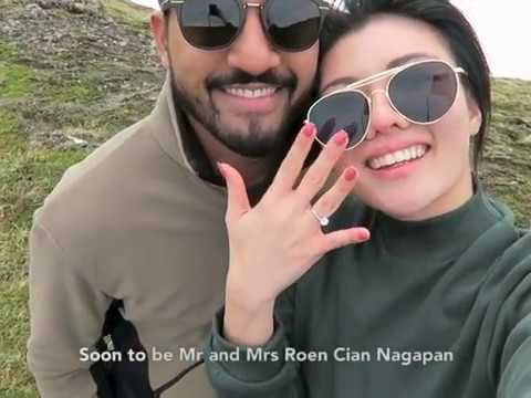 Miss Universe Malaysia Carey Ng and Roen Cian Nagapan's Proposal in Iceland