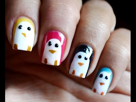 penguin nail art kids nail polish designs  youtube