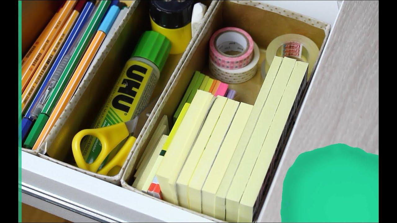 Schreibtisch I Schubladenorganisation Zettelwirtschaft Bändigen