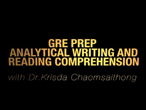 GRE Reading Comprehension & Analytical Writing