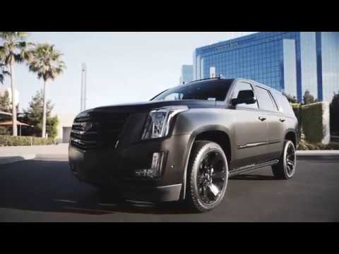 BRAND NEW 2017 ESCALADE BLACKED OUT!!! SD Wrap behind the scenes...