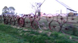 Antique Iron Wheel Fence