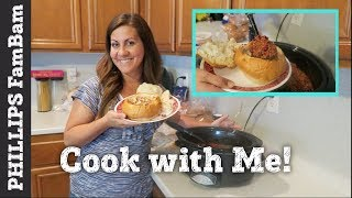 COOK WITH ME | CROCKPOT CHILI BREAD BOWL RECIPE | NOREEN