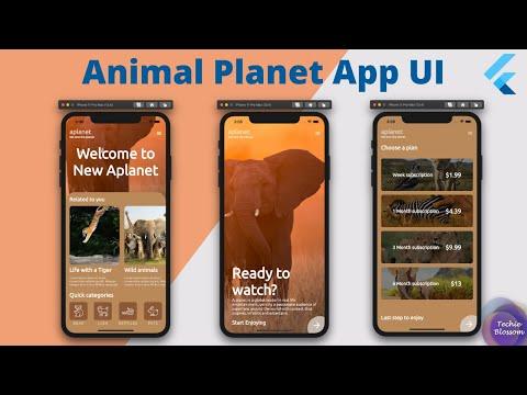 Animal Planet App UI   Flutter