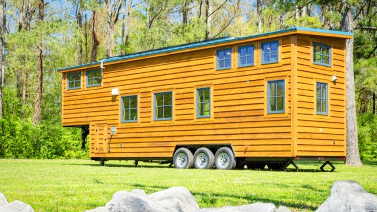 35ft Gooseneck Tiny House by Timbercraft Tiny Homes | Lovely Tiny House