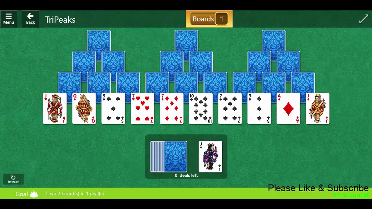 microsoft solitaire collection card games tripeaks daily