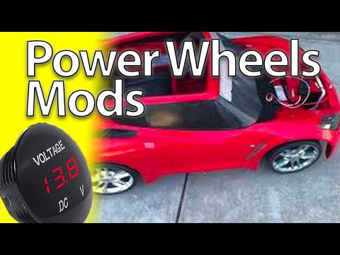 Power Wheel Mod How to add a volt meter display Modified