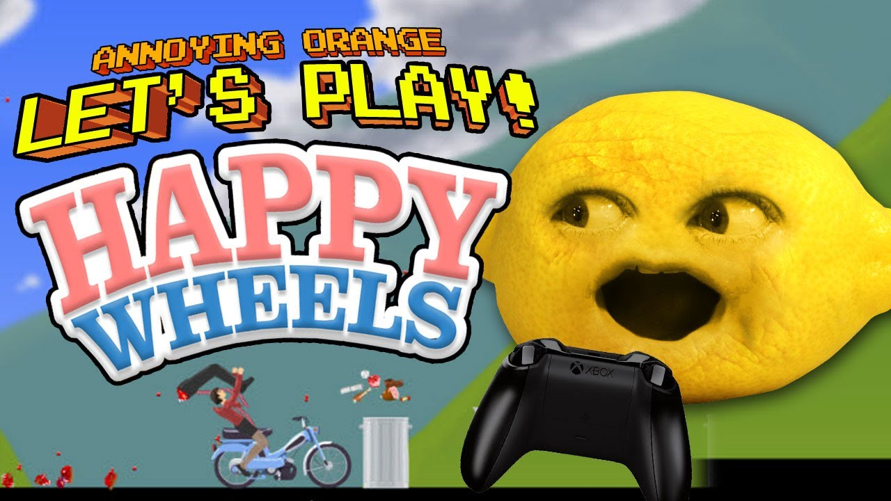 Annoying orange let 39 s play happy wheels with grandpa - Let s play happy wheels ...