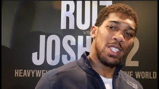 'WHAT ARE YOU DOING? - EVEN MY ENEMY SUPPORTS ME' - ANTHONY JOSHUA REVEALS WHYTE TALK, TALKS RUIZ