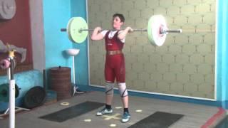 Тяжёлая атлетика Мезенцев Алексей, 12 лет, вк 62 Толчок 60 кг