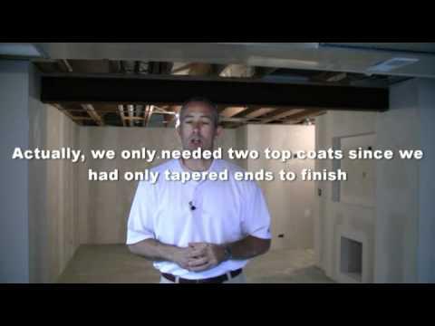 Basement Finish, Drywall Quality Check