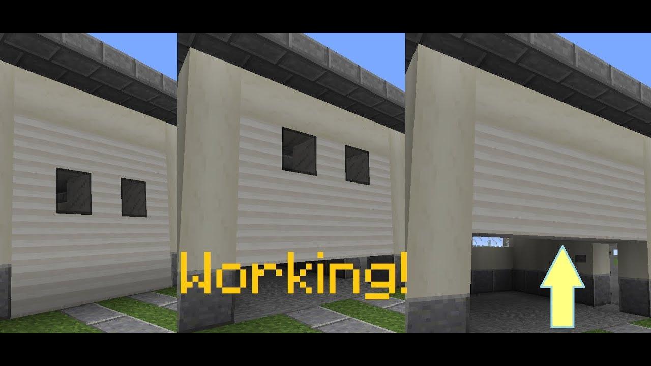 Minecraft Working Garage Door Vanilla Youtube