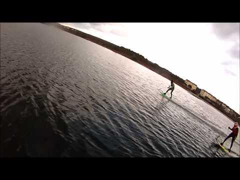 Jakub Kornfeil rides his JetSurf