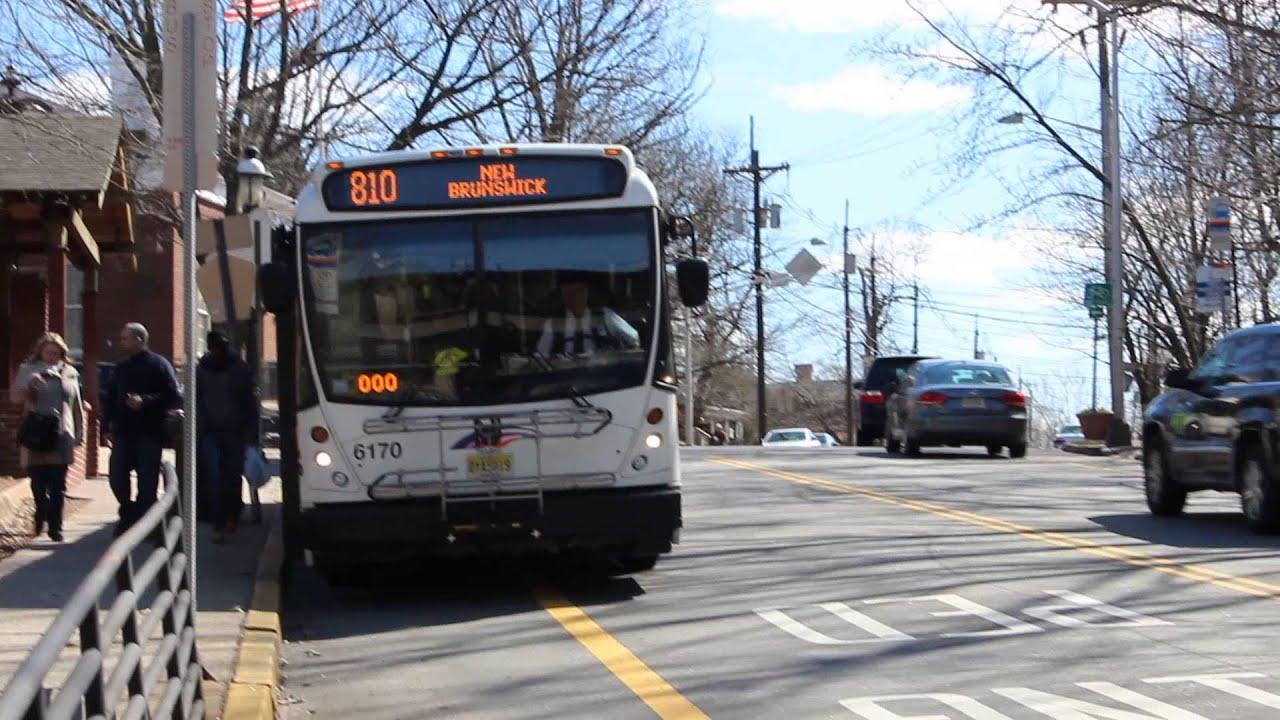Nj transit academy bus nabi 6170 6175 on for Motor vehicle new brunswick nj