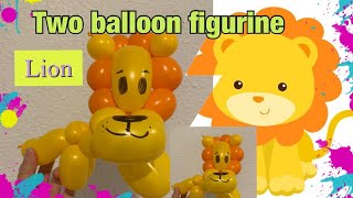 Lion balloon tutorial. Two balloons figurine . Perfect for line twisting.