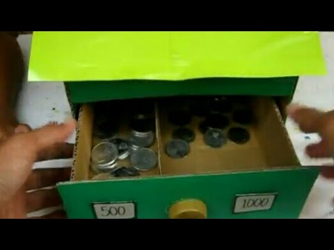 DIY : Make Coin Sorting House From Cardboard