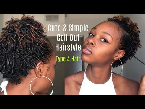 Finger Coil Out Hairstyle Type 4 Short Natural Hair Youtube