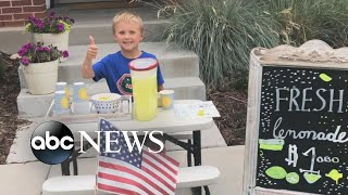 6-year-old sells lemonade to take mom out on date after father dies of colon cancer