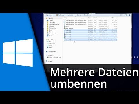 Windows Tutorial | Mehrere Dateien gleichzeitig umbenennen [Deutsch/HD]
