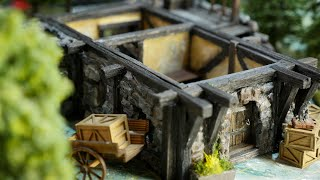 🍻Build Yourself an EPIC Medieval Tabletop Tavern!!🍻 |D&D Pathfinder Terrain *First level*