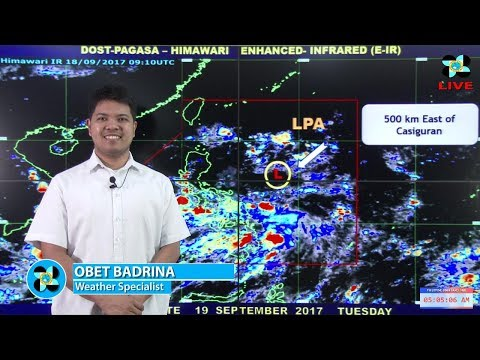 Public Weather Forecast Issued at 4:00 AM September 19, 2017