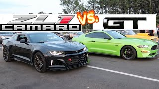 RACED A CAMARO ZL1 & TWIN TURBO 2018 MUSTANG w/MY NEW 10R80 CONVERTER! thumbnail