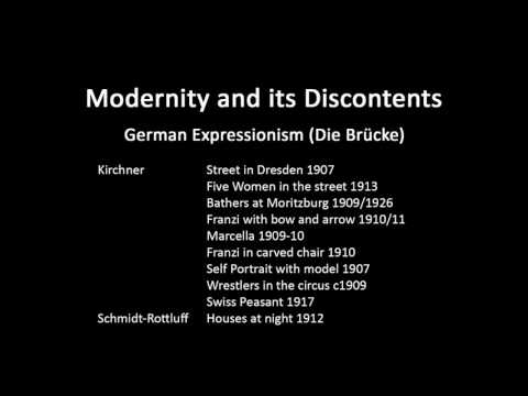 A history of modern art in 73 lectures: lecture 40 (German Expressionism - Die Brucke)