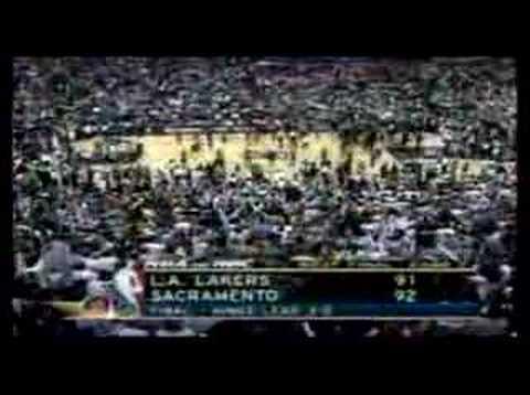 Kings vs. Lakers 2002 WCF Game 5 End - NBA on NBC