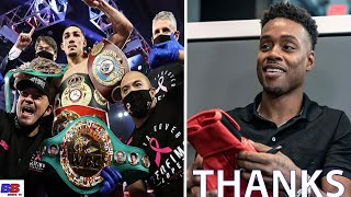 "ERROL SPENCE JR. THANKS TEOFIMO LOPEZ FOR DEFEATING VASILY LOMACHENKO ! ""THANKS TO THE YOUNG BULL"""