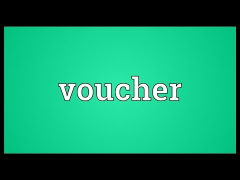 Voucher Meaning