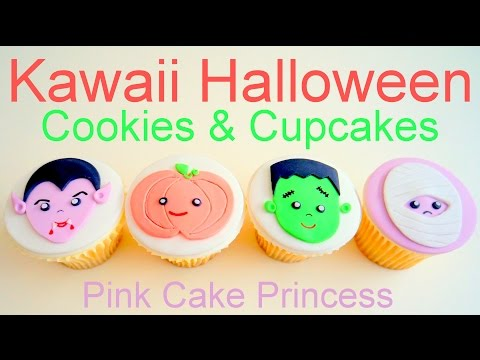 kawaii-halloween-cupcakes-&-cookie-pops-how-to-by-pink-cake-princess