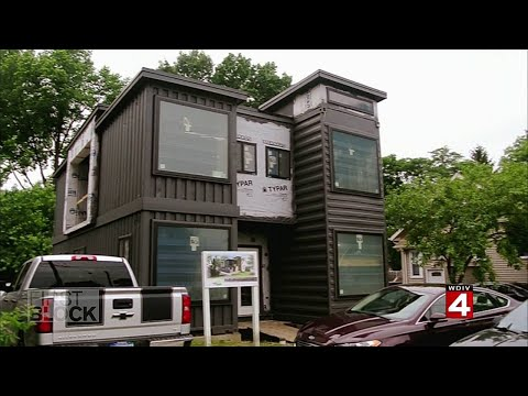 Shipping Container Home Building in Detroit