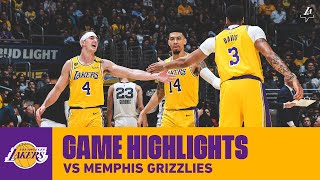 HIGHLIGHTS | Los Angeles Lakers vs. Memphis Grizzlies