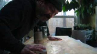 Part 7: Greg's Giant Slabs.  Actor/artist Mark Owen Applies The Second Coat Of Stain