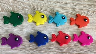 Learn Colors with Play Doh Fish Mold Fun Educational Video for children