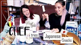 Belgian Chef Tries Japanese Snack Food ( +Announcement) | IkuTree