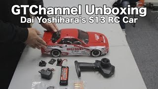 video thumbnail of Unboxing: Drift RC Car HPI Racing E10 - Dai Yoshihara Discount Tire Falken Tire S13