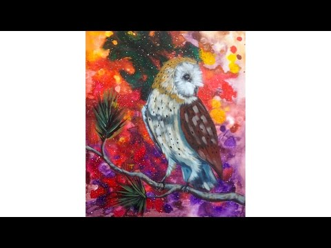 Cosmic Owl Acrylic Painting Lesson The Art Sherpa