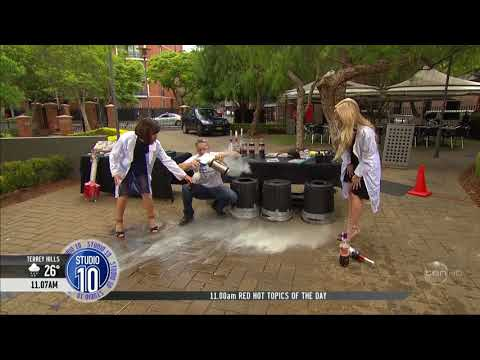 Australian TV Host almost killed by Exploding Coke Bottle