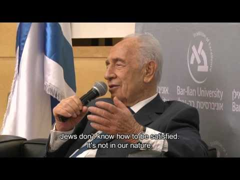 Israel's President Mr. Shimon Peres visits Bar-Ilan University