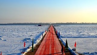 Highway bridge to link China and Russia across Heilongjiang River